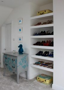 Showing off shoes as stylist studio in Swindon