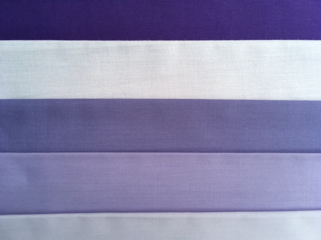 Examples of soft purples - a mix of warm and cool toned purples that suit either Summer or Autumn people