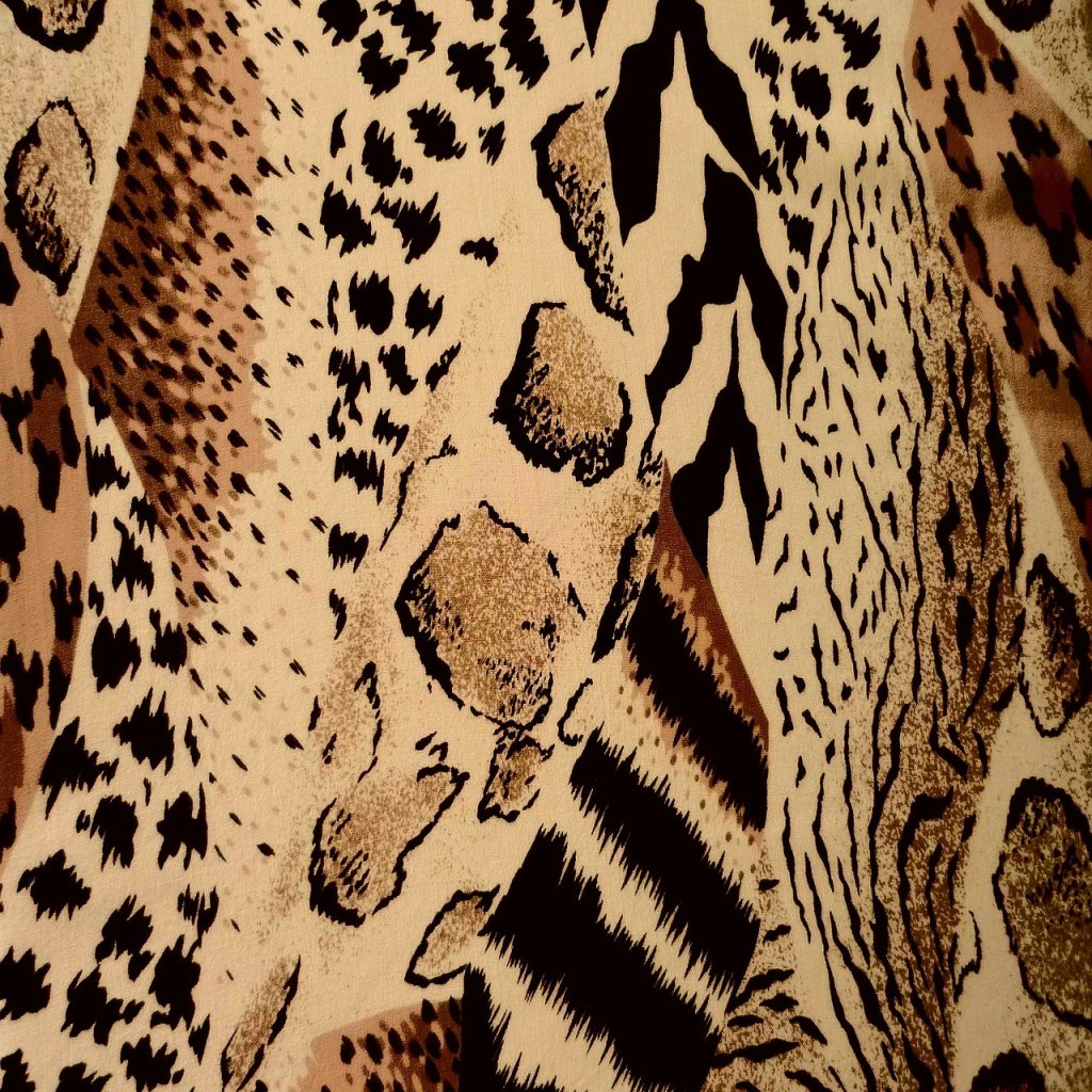 Example of animal print for wearing at work